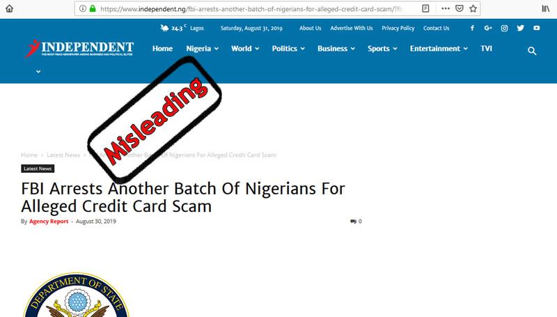 Fbi Arrests Another Batch Of 22 Nigerians For Alleged Credit Card Scam Trueorfalse Online